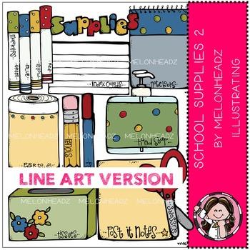 School supplies 2 by Melonheadz LINE ART