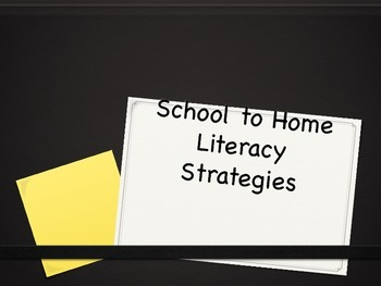School to Home Literacy Parent Handout
