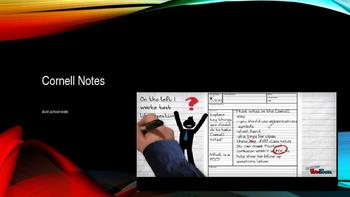 School wide ppt for training students on cornell notes, AV