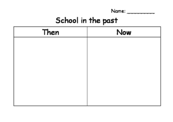 Schools History Then and Now Sorting Worksheet