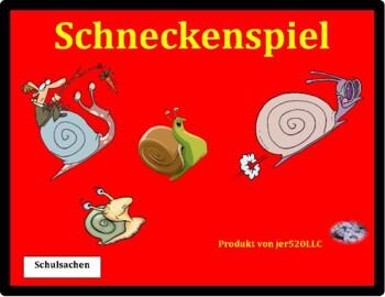 Schulsachen (School objects in German) Schnecke Snail game