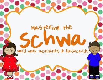 Schwa Sound Practice Activities and Flashcards
