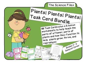 Science Files - Plants! Plants! Plants! Plant Life Task Ca