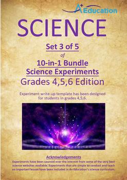 Science 10-IN-1 BUNDLE (Set 3 of 5) - Grades 4,5,6