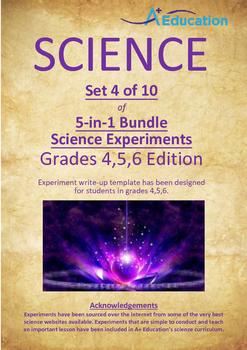 Science 5-IN-1 BUNDLE (Set 4 of 10) - Grades 4,5,6