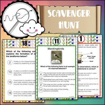 Science STAAR 5th grade Test Prep Scavenger Hunt
