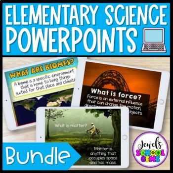 Science Activities ★ Science PowerPoints BUNDLE