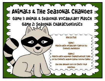 Animals & the Seasonal Changes (2 Games)