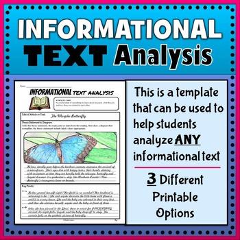 Informational Text Analysis (Nonfiction Graphic Organizer)