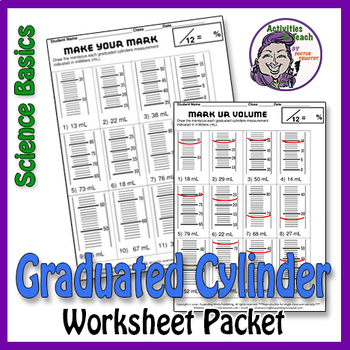 Science Basics Measuring with Graduated Cylinder Worksheet Packet