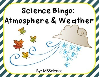 Science Bingo: Atmosphere & Weather