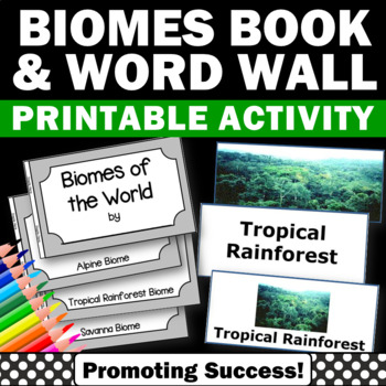 Biomes of the World Science Vocabulary Word Wall and Littl