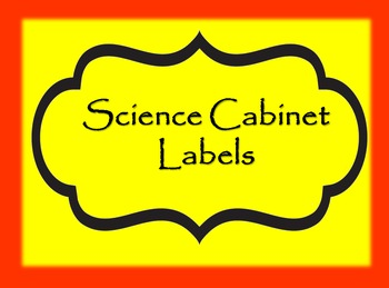 Science Cabinet Labels