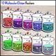 Science Chemistry Clip Art - 30 Glitter Beakers {Commercia