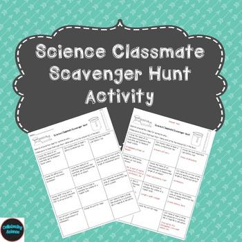 Science Classmate Scavenger Hunt Activity
