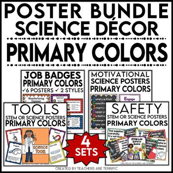 Science Classroom Decor Mega Bundle in Primary Colors