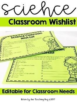 Science Classroom Supply List