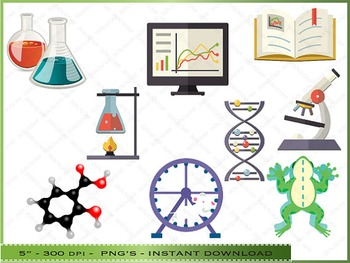 Science Digital Clipart - Scientific Images / Personal And