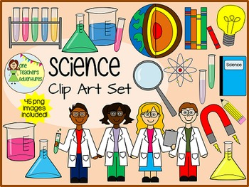 Science Clip Art Set - 45 png images for commercial or per
