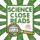 Science Close Reads for Any Science Text or Article