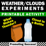 Clouds & Thunder Science Experiments for Summer School Wea