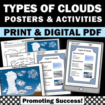 Types of Clouds Posters & Activities for Spring or Summer