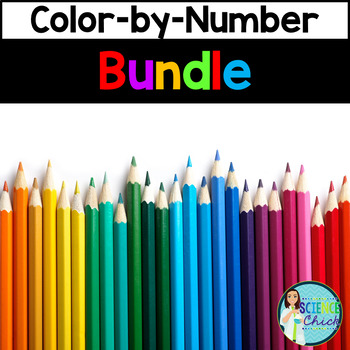 Science Color-by-Number Growing Bundle by Science Chick