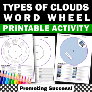 Types of Clouds Interactive Science Notebook Spring or Sum