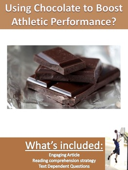 Science Current Event - Athletes Use Chocolate to Boost Pe