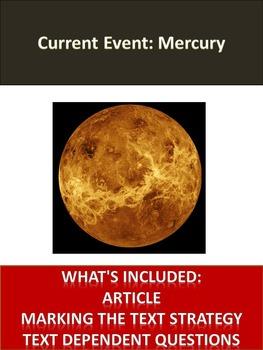 Solar System Sub Plans - Mercury