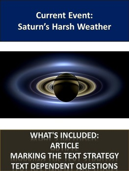 Solar System Sub Plans - Saturn