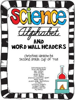 Science Cursive Alphabet {Upper Elementary}