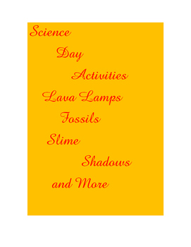 Science Day Activities like lava lamps, This is a Science