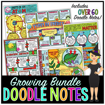 Science Doodle Notes Growing Bundle! by The Morehouse Magic