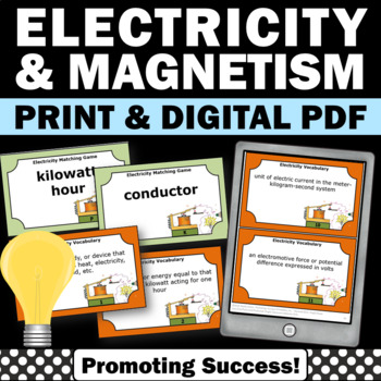 Electricity and Magnetism Task Cards Pysical Science Cente