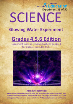 Science Experiment (31 of 50) - Glowing Water - GRADES 4,5,6