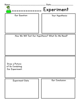 Science Experiment Data Worksheets - 5 Options