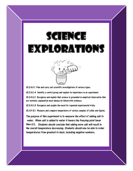 Science Experiment- Salt and Ice and the Scientific Method