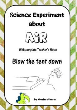 Science Experiment about Air - Blow the tent down