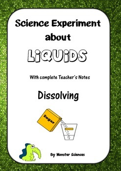 Science Experiment about Liquids - Dissolving - A vanishing act!
