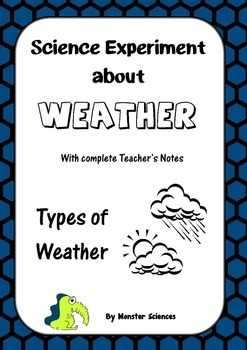 Science Experiment about Weather - Types of Weather