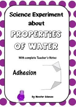 Science Experiment about the Properties of Water - Adhesion