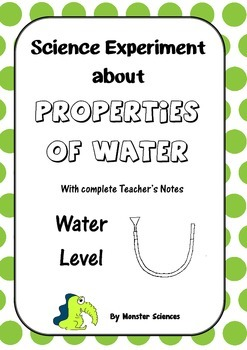 Science Experiment about the Properties of Water - Make a