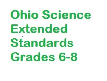 """Science Extended Standards """"I Can"""" Statements"""
