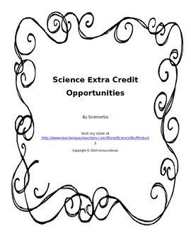 Science Extra Credit Opportunities