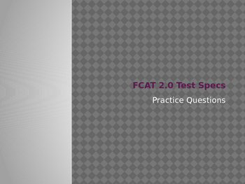 Science FCAT 2.0 Review Power Point/Game