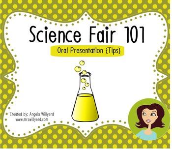 Science Fair 101: Oral Presentation Tips {Handout}