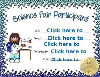 Science Fair Participant girl 1