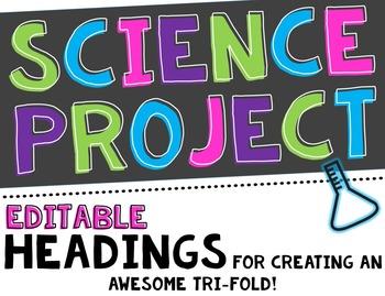 Science Fair Project Headers and decor-Editable