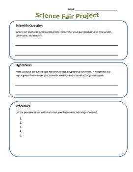 Science Fair Project Organization Tool